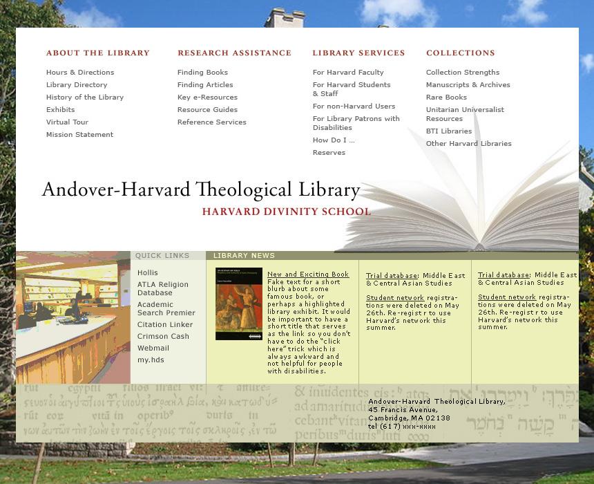 Harvard Divinity School Library