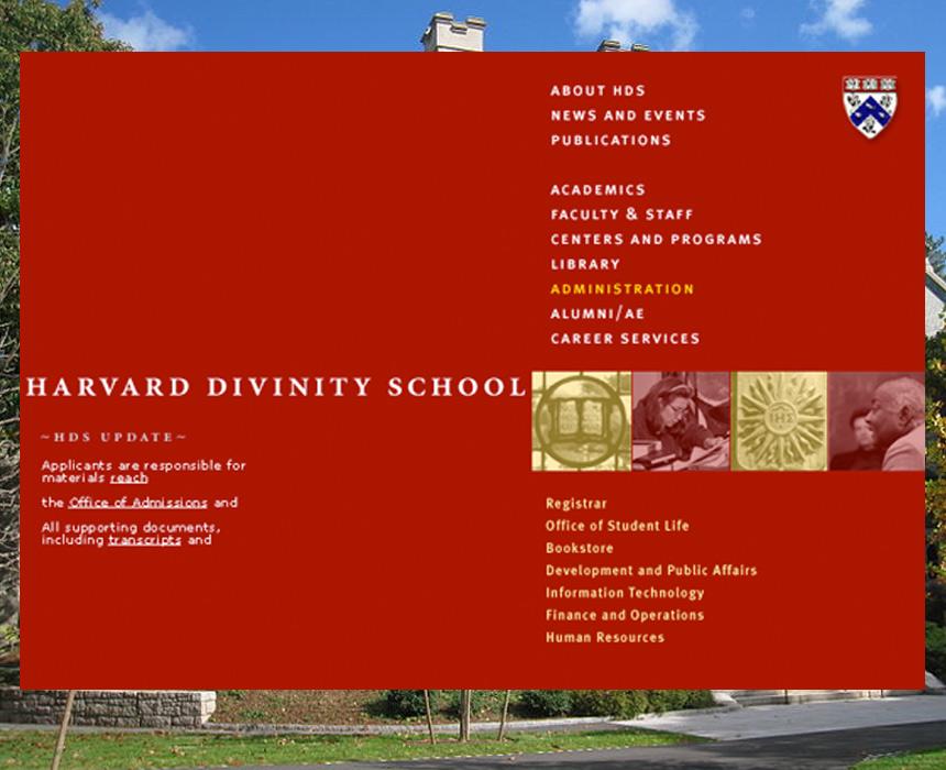 Harvard Divinity School web site