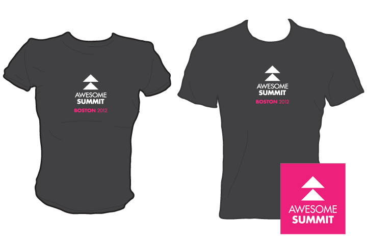 Logo and t-shirt design for AF international summit. Summer, 2012.